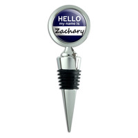 Zachary Hello My Name Is Wine Bottle Stopper