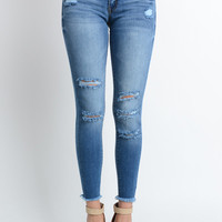 Light Wash Frenzy Frayed Jeans