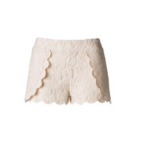 Hidden Motive Lace Shorts - Ivory - Hazel & Olive