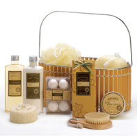 Vanilla Spa Bath And Body Basket