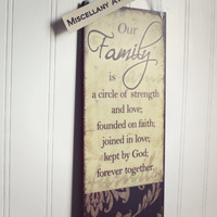 Family Sign / Door Hanger Sign / Family Love Sign / Inspirational Sign / Faith Decor / Family Decor / Love Decor / Housewarming Gift