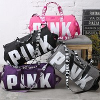Day-First™ Victoria's secret Pink Sports and fitness yoga with short travel bag