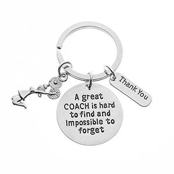 Cheer Great Coach is Hard to Find But Impossible to Forget Keychain