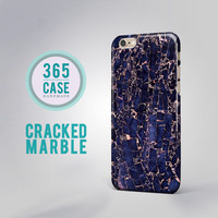 Cracked Marble iPhone 6 Case Dark Blue Marble iPhone 6 Plus Case iPhone 5S case Gold iPhone 5C case iPhone 4S case Samsung Galaxy Cases