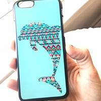 Dolphin Aztec Print iPhone Case