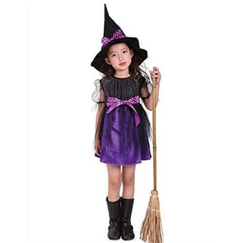Halloween Baby Girl Kids Costume Dress+Hat Set of 2