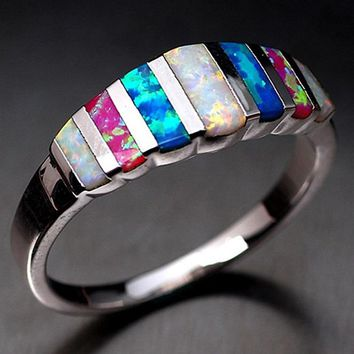 Size 5 To 12 Stainless Steel Rings For New Neutral Colorful Rainbow Ring Jewelry For Men Women Engagement Jewelry Accessories R5