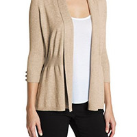 89th & Madison Womens Button Sleeve Cardigan