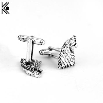 Game of Thrones Stark Cufflinks,the Men Shirts CuffLinks ,the Wedding Party Luxury Men Cufflinks,the Vintage Movie Jewelry