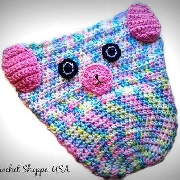 Puppy Dog Car Seat Cozy Unique Baby Gift Infant and Toddler PreSchool Sizes Multi Colors in Pastels Baby Shower Gifts Made to Order