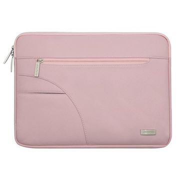 Mosiso Laptop Sleeve Bag for 13-13.3 Inch MacBook Pro, MacBook Air, Ultrabook Netbook Tablet, Polyester Fabric Protective Carrying Case Cover, Pink