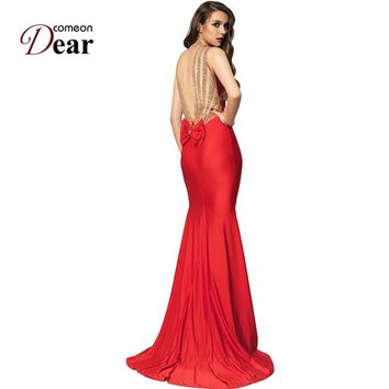 56806095e770 Comeondear Wedding Evening Party Occasion Floor Length Mermaid L
