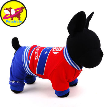 2016 petcircle Autumn winter sport Pet Coats cotton dog clothes for chihuahua dog hoodies for small and large dog freeshipping