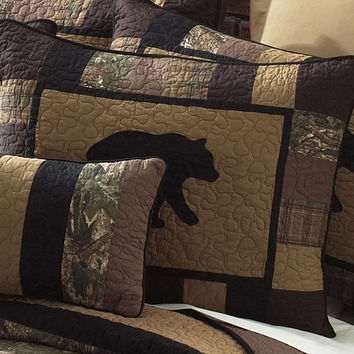 Donna Sharp Camo Bear Standard Pillow Sham