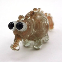 Golden Creature Lampworked Glass Figurine Bead by MercuryGlass