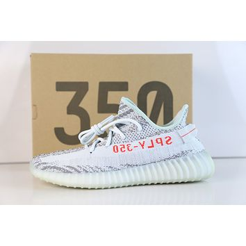 Adidas Yeezy Boost Kanye West 350 V2 Blue Tint Grey Three High Res B37571 5-13 1