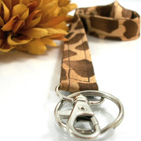 Animal Print Lanyard in Giraffe