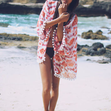Tie Dye Beach Kimono by wonderlandhonolulu on Etsy