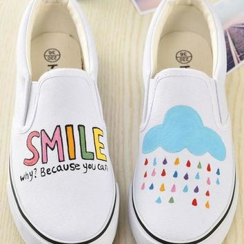 Women Low Graffiti Casual Shoes Hot Sales Product Girl Canvas Shoes Fashion Hand Paint