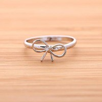 RIBBON ring in silver  by bythecoco on Zibbet