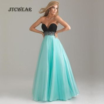 JTCWEAR High Waist Strapless Dress Tunic Sequins Fit And Flare Maxi Floor Dress Party Formal Lady Swing Vestidos 374
