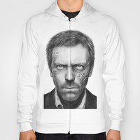 Hugh Laurie-House MD-Dr. Gregory House-Portrait Hoody by Olechka