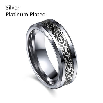 Vintage engagement Dragon Tungsten steel Ring for Men & women lord Wedding rings Band new punk ring for lover JZ0089