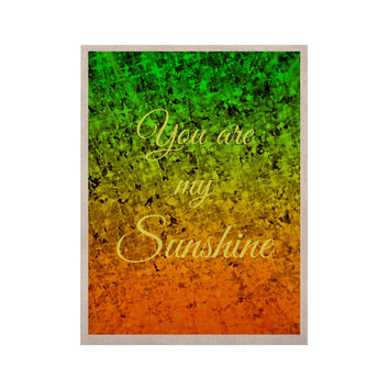"Ebi Emporium ""You Are My Sunshine"" Green Orange KESS Naturals Canvas (Frame not Included)"