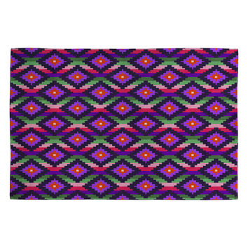 Bianca Green Aztec Diamonds Fiesta Woven Rug
