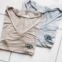 Eye Pocket Tee (Mocah)