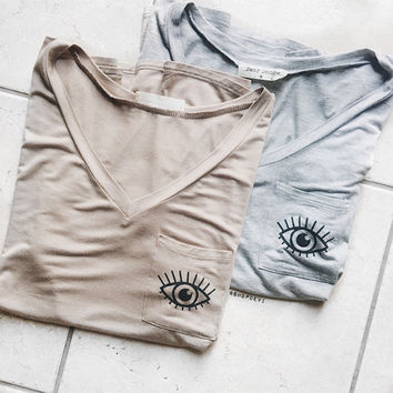 Eye Pocket Tee (Heather Grey)