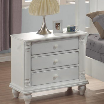 Coaster Fine Furniture Night Stand Distressed White 201182