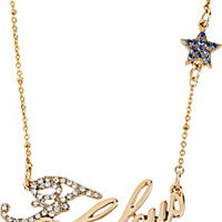 BetseyJohnson.com - WORD NECKLACE FABULOUS WITH STAR GOLD
