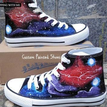 galaxy shoes galaxy converse painted shoes converse galaxy painted converse custom con