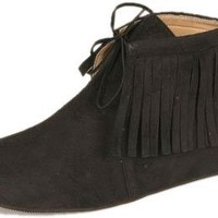 Women's Adult Black Indian Shoes (Size: Medium 7-8)