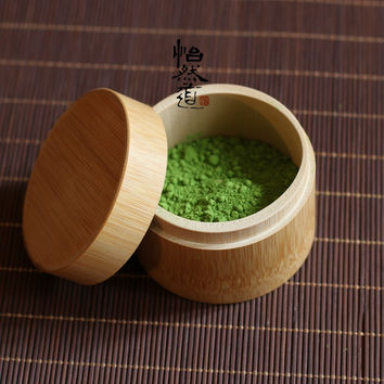 [GRANDNESS] Bamboo Matcha Canister * Powdered Green Tea Caddy 20g Tea Capacity matcha green tea powder matcha tea accessories