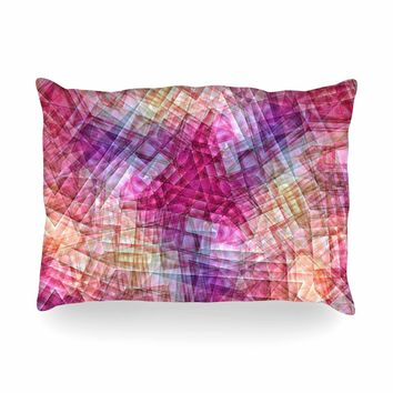 "Justyna Jaszke ""Mandala Colors Of Life"" Multicolor Pastel Abstract Pattern Digital Illustration Oblong Pillow"