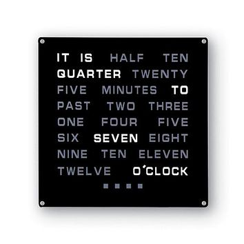 The Infamous Light Up Word Clock