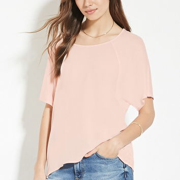 Contemporary Dolman-Sleeve Top | LOVE21 - 2000169501