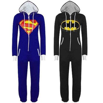 LMFUG3 New Batman Superman winter of foreign trade of animal models piece pajamas cartoon casual tracksuit couple = 1927990276