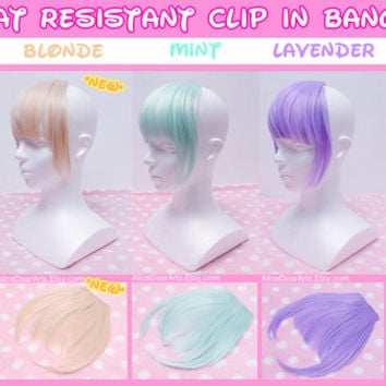 5 PACK Colorful Clip in Bangs