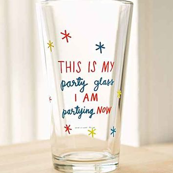 ADAMJK X UO Party Pint Glass- Multi One