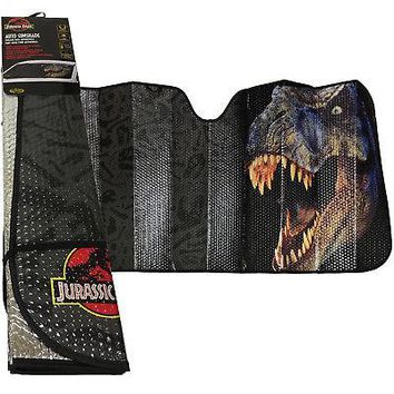 Licensed Official New T-Rex Jurassic Park World Car Truck Windshield Folding Sun Shade Large Size