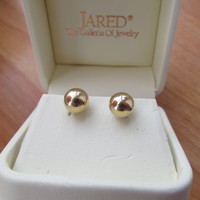 14k Gold earrings, pierced stud earrings, fashion accessories