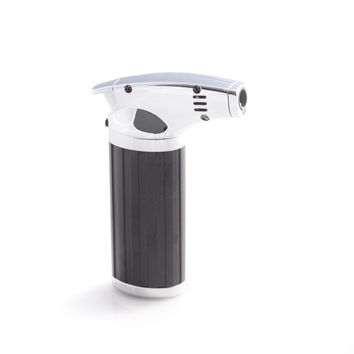 Torch Lighter, Stainless Steel & Black Plastic, T.P.