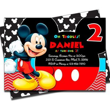 PRINTED Mickey Mouse Clubhouse Personalized Birthday Invitation for Boys - Set of 20 Invites - Envelopes Included