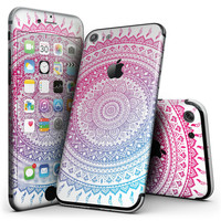 Ethnic Indian Tie-Dye Circle - 4-Piece Skin Kit for the iPhone 7 or 7 Plus