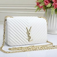 YSL Women Trending Big Logo Leather Shoulder Bag Crossbody G