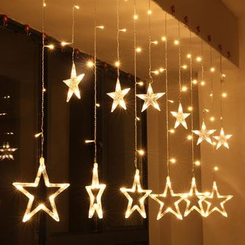 2M Christmas Lights AC 220V EU Romantic Fairy Star