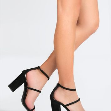 Three Strap High Heel